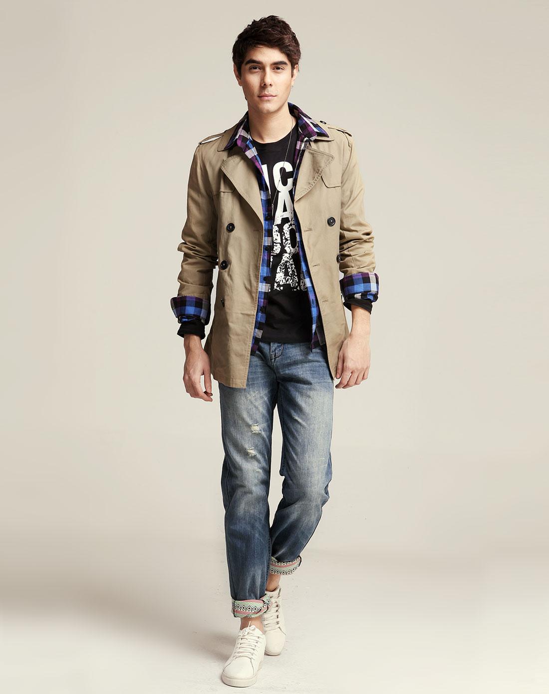男士韩版腰带羊毛呢子英伦修身风衣外套怎么搭 – 手机爱问