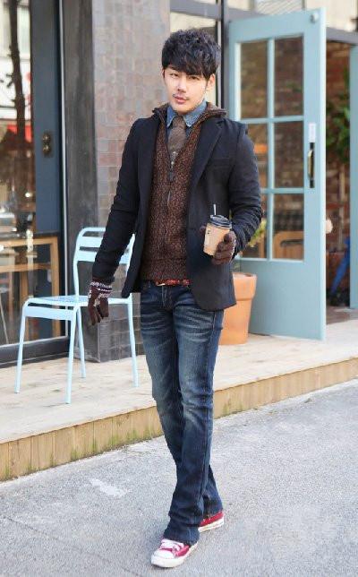 冬季男士韩式穿衣搭配帅气街头味