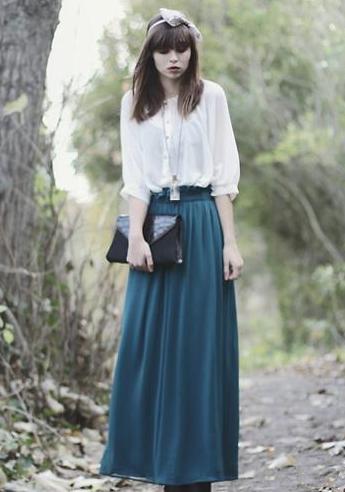 冬季半身长裙搭配图片