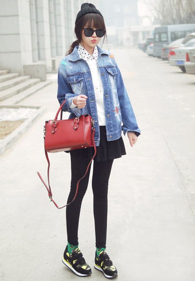 韩版修身男士衬衫_春季服装搭配图片