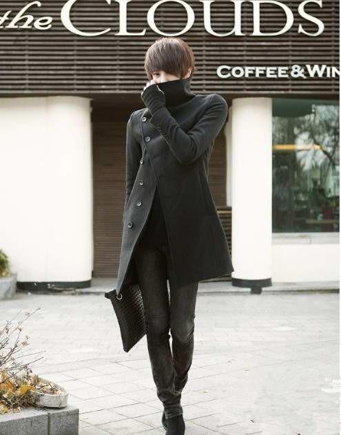 冬天黑色风衣怎样搭配