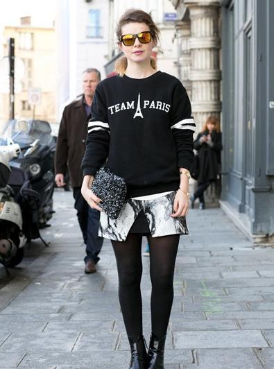 服装销售搭配技能:黑色套头卫衣搭配