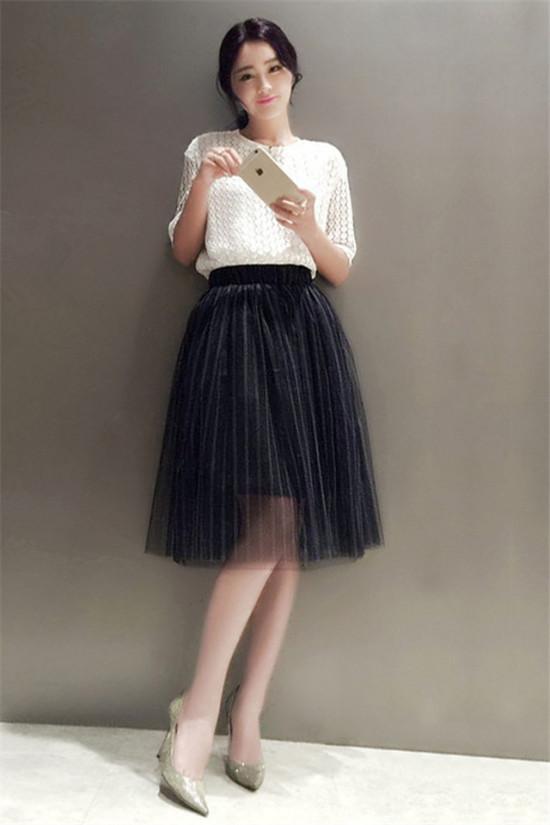 半身裙搭配图片_半身裙怎么搭配
